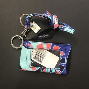 NWT Vera Bradley ID Holder Lanyard Keychain